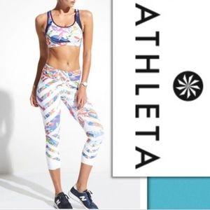 Athleta Kaleidoscope sonar crop leggings